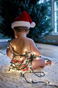 Lit up Santa baby Baby Christmas Photos, Noel Christmas, Holiday Photos, Christmas Lights, Holiday Fun, Christmas Decorations, Holiday Cards, Xmas Pics, Funny Christmas