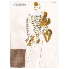 Givenchy Croquis of a Suit