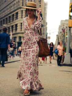Women Boho Maxi Long Floral V Neck Beach Party Dress – Shop For Selection