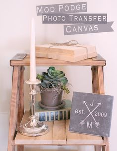 Mod Podge Photo Transfer Canvas @Alissa Huybers Crafts