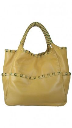 Aiston Woven Leather Tote  Would like this in a darker brown