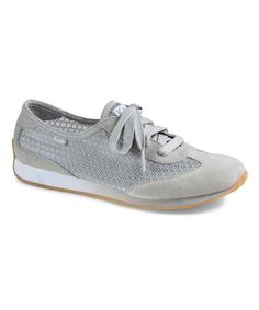 Another great find on #zulily! Drizzle Gray T-Toe Mesh Dart Suede Sneaker #zulilyfinds
