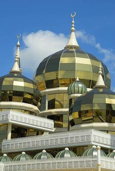 Masjid Kristal (Crystal Mosque), Terengganu. Masjids have the BEST architectural features.