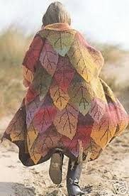 kaffe fassett knitting designs - Big leave design on knitted coat