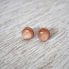 Rose Gold Stud Polymer Clay Earrings Variety by LittlestOven