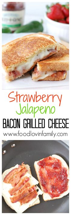 This Strawberry Jalapeno Bacon Grilled Cheese Sandwich is a crunchy, gooey combination of savory, sweet, and salty with just a touch of heat. To the delight of taste buds everywhere, sourdough bread, bacon, Swiss cheese and strawberry jalapeno fruit sprea