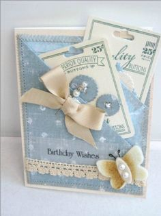 double pocket card filling cute pockets,using Button Boutique @Papertrey Ink