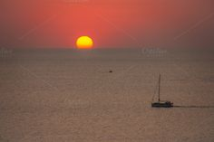 Check out Sunset sailing by ChristianThür Photography on Creative Market Sailing Holidays, Holiday Photos, Boat, Christian, Celestial, Marketing, Sunset, Water, Check