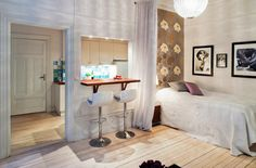 Small, but stylish 365 sq ft studio apartment.