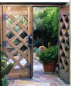 Attractive Wood Garden Gate Design for Summer Ideas - Master Home Decor Garden Entrance, Garden Doors, Entrance Gates, Wooden Garden Gate, Wooden Gates, Wooden Gate Designs, Tor Design, Wood Fence Design, Garden In The Woods