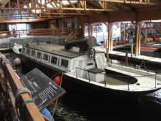 TSSY Esperance at the Windermere Steamboat Museum in the Lake District in 2011. she was also an inspiration for Captian Flint's houseboat ~ photo Sophie Neville