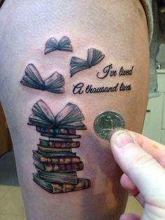 attractive literary book tattoos0031