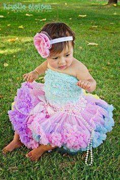 Colorful Child Pettiskirt - Lemonade Couture