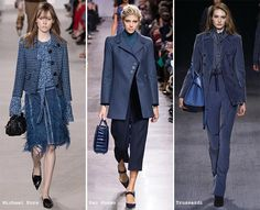 Riverside Blue: The roster of the fall/ winter 2016 color trends is led by Riverside, a cool and calming blue that is literally stuck between serious navy blue and vibrant cobalt blue.