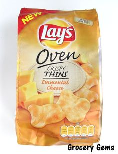 Lays Emmental Cheese Oven Crispy Thins - from the Netherlands
