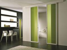 Puerta corrediza de vidrio coloreado ANTHA   Puerta de vidrio coloreado - GIDEA