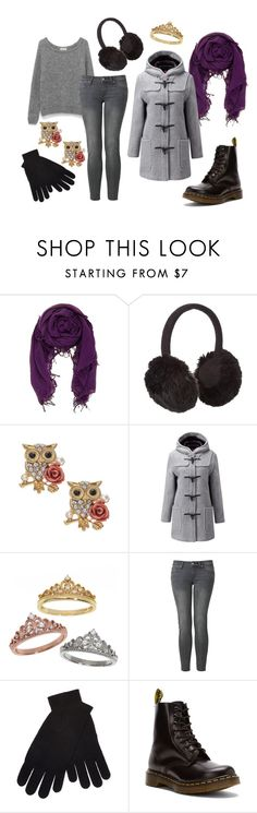 """Briar Rose - Cold Weather Disneybound"" by caro-de-moiselle ❤ liked on Polyvore featuring Chan Luu, John Lewis, Gloverall, Eternally Haute, Uniqlo, White + Warren, Dr. Martens, sleepingbeauty, disneybound and BriarRose"