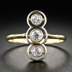 Antique Triple Diamond Ring - 10-1-6217 - Lang Antiques