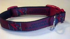 """ARIZONA CARDINALS - Football 1"""" wide Adjustable Dog Collar Pet Couture"""