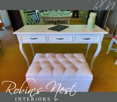 This gorgeous 3 drawer server would do wonders for any home. Get it today at Interior Photo, Robin, Nest, Ottoman, Drawers, Chair, Furniture, Home Decor, Products