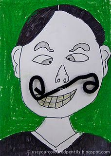 Dali Moustaches from Use Your Coloured Pencils