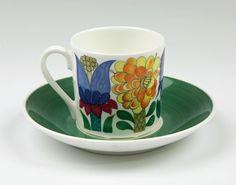 Tahiti - Kaffekopp med fat - Stig Lindberg - Gustavsberg