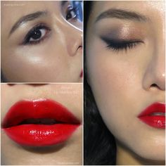The Makeup Box: Chilli Red Lips and Soft Winged Eyes: Armani Lip M...