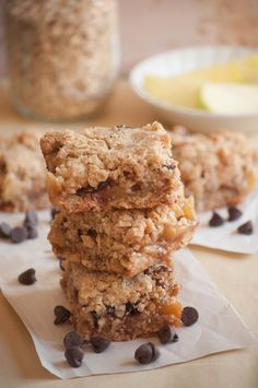 Apple Pie Oat Crumble Bars - Allspice and Nutmeg - @Norma_D {Allspice and Nutmeg}