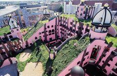 Hundertwasser's Inspiring Architecture - http://blacklemag.com/design/hundertwassers-inspiring-and-beautiful-architecture/