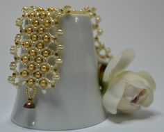 Uniqe pearl bracelet.  gift for her by IlanitKertisJewelry on Etsy