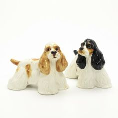 American Cocker Spaniel Dog Ceramic Figurine Salt Pepper Shaker 00032 Ceramic Handmade Dog Lover Gift Collectible Home Decor Art and Crafts by Cocker Spaniel - madamepOmm -. $59.00. American Cocker Spaniel Dog Lover Ceramic Original Handmade Hand Paint Salt and Pepper Shaker Figurine Ceramic Home Decor Collectibles  Made of ceramic porcelain high fired interior apply clear under-glaze, food safe painted with attention hand painted acrylic paint then apply clear gloss protected....