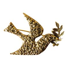 Vintage Zentall Dove & Olive Branch Pin.  Now on sale at 40% off at whimsicalvintage.rubylane.com Be sure to check out my sale section for 20% to 50% savings on vintage jewelry, glass, porcelain and pottery