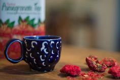 Blue handmade ceramic cup Handmade Ceramic, Ceramic Cups, Ceramics, Mugs, Tableware, Blue, Creative, Ceramica, Pottery Mugs