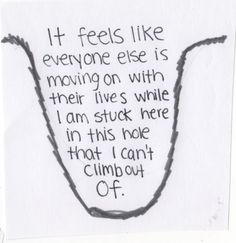 Chronic pain can make a person feel like this. we all have these kind of days... Don't tell us just to snap out of it.