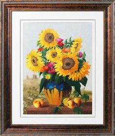 There are some ups and downs encountered in our life. But we should always look at the sunny side just like the sunflowers in this silk embroidery art. Sunflower Art, Embroidery Art, Sunflowers, Cross Stitch, Art Work, Silk, Facebook, Handmade, Painting