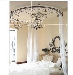 Curtain curtain frame, wrought iron bed curtain frame, Beautiful!