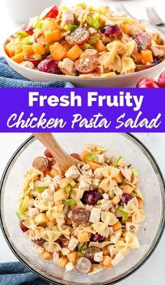 Fresh Fruity Chicken Pasta Salad recipe from family fresh meals via @familyfresh