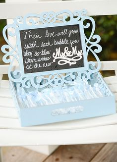 Adorable box for a wedding ceremony bubble exit