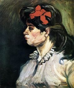 "Vincent van Gogh ""Portrait of a Woman with Red Ribbon"" /  December 1885, Antwerp /  Oil on canvas, 60 x 50 cm /  Private collection"