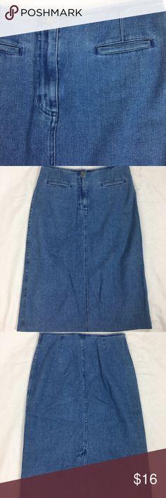 Vintage High Waisted Denim Skirt Vintage high waisted Denim skirt. Size 4. EUC. Skirts Midi