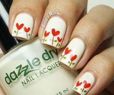 Hearts & Flowers Nail art