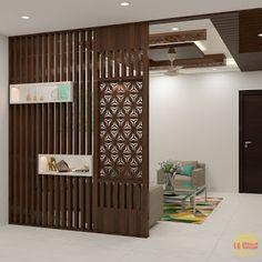 Wooden Partition Design, Wooden Partitions, Living Room Partition Design, Living Room Divider, Room Divider Walls, Pooja Room Door Design, Living Room Tv Unit Designs, Room Partition Designs, Home Room Design