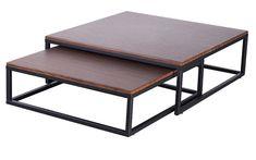 Proč mít jen jeden stolík, když můžete mít rovnou dva? Sada konferenčních stolků Sibel Vám nabízí 2 v 1. V případě, že potřebujete ušetřit místo, menší stolek jednoduše zasunete pod větší.  Stolky Sibel jsou vyrobeny z pevných a odolných materiálů - fóliovaná MDF a kov. Barva plátu je v odstínu ořechu a konstrukce je celá černá. Table, Furniture, Home Decor, Decoration Home, Room Decor, Tables, Home Furnishings, Home Interior Design, Desk