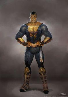 Injustice: Gods Among Us Concept Art - Black Adam. Art by Marco Nelor. Captain Marvel Shazam, Mary Marvel, Marvel Dc, Comic Book Characters, Comic Character, Comic Books, Character Reference, Character Design, Dc Comics