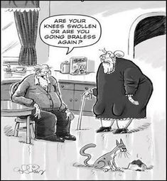 Funny old people cartoon
