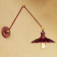 30cm Adjustable Swing Long Arm Light Loft Vintage Wall Lamp Antique Edison Industrial Wall Sconce Applique Murale Luminaire #Affiliate