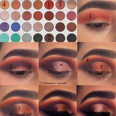 Eye Makeup Steps, Makeup Eye Looks, Beautiful Eye Makeup, Crazy Makeup, Jaclyn Hill Eyeshadow Palette, Jaclyn Hill Palette, Jacklyn Hill Palette Looks, Creative Eye Makeup, Colorful Eye Makeup