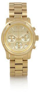 Montre chronographe en plaqué or