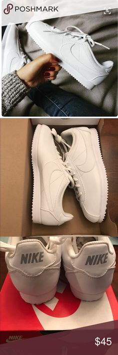 Nike Cortez '72 white leather sneakers Vintage | Nike cortez, Leather  sneakers and Sneaker brands