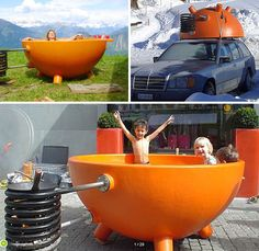 Portable bath, you could camp for months with one of these